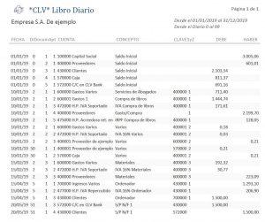 Libro Diario generado por Cuenta Logica Visual *CLV*